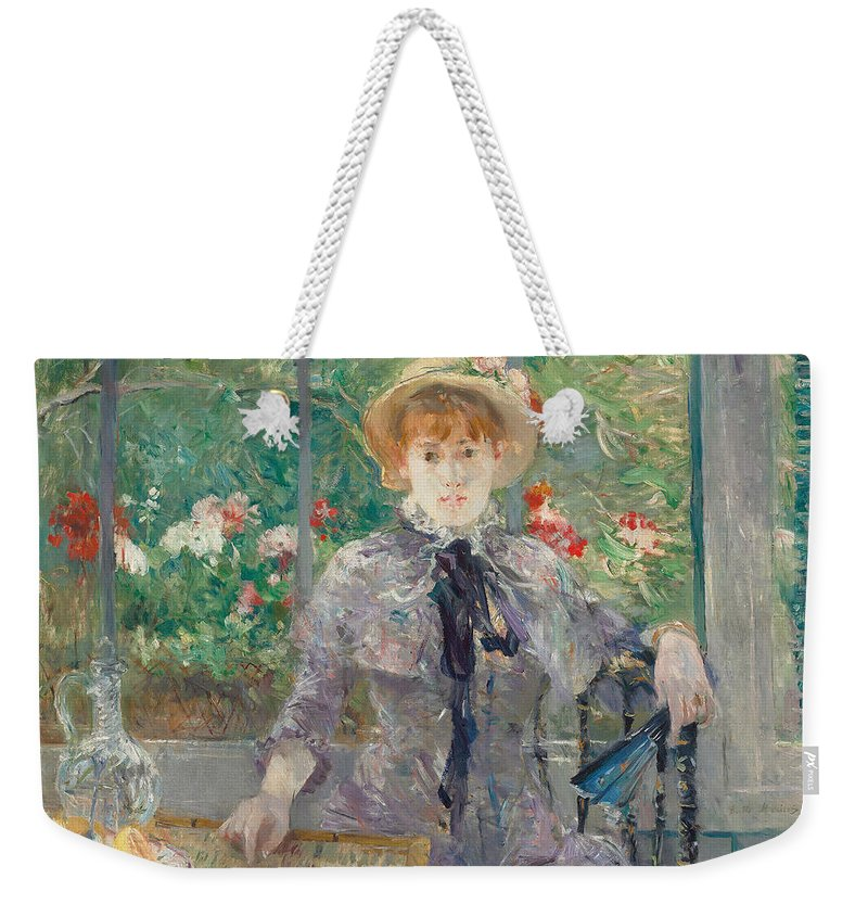 Morisot Weekender Tote Bag featuring the painting Apres Le Dejeuner by Berthe Morisot