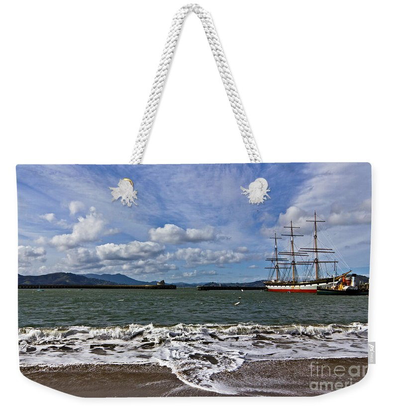 Kate Brown Weekender Tote Bag featuring the photograph Aquatic Park by Kate Brown