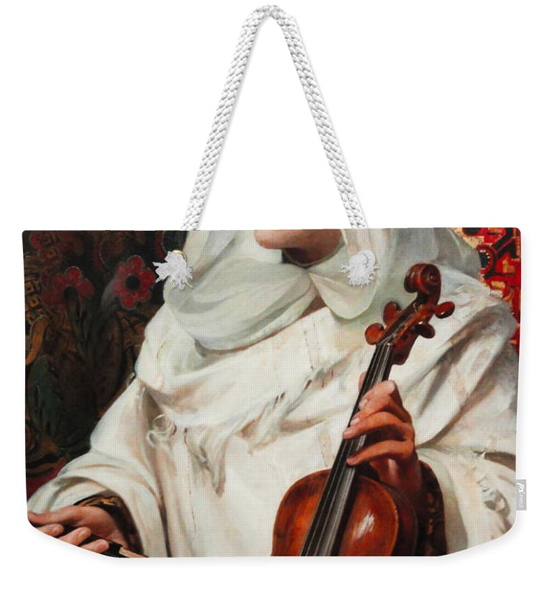 Pedro Americo Weekender Tote Bag featuring the digital art Arab Fiddler by Pedro Americo