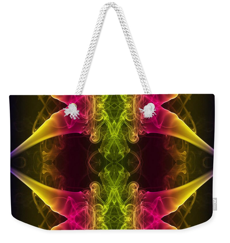 Smoking Trails Weekender Tote Bag featuring the photograph Arachnophobia by Steve Purnell
