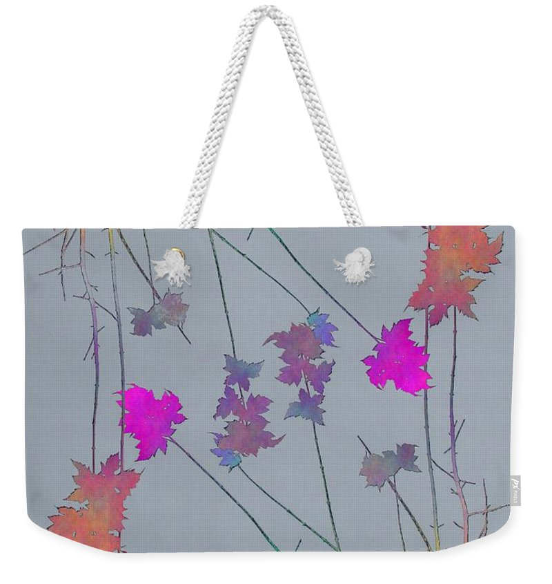 Tree Weekender Tote Bag featuring the digital art Arbor Autumn Harmony 1 by Tim Allen