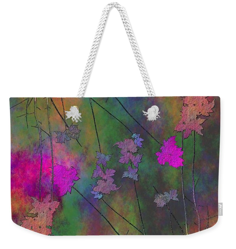 Tree Weekender Tote Bag featuring the digital art Arbor Autumn Harmony 4 by Tim Allen