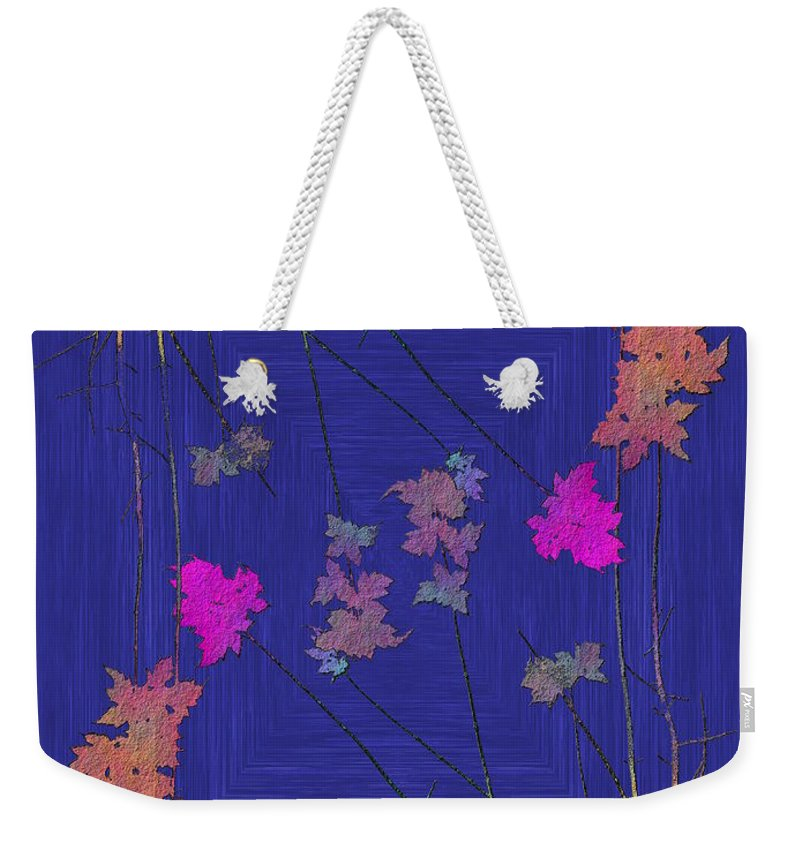 Tree Weekender Tote Bag featuring the digital art Arbor Autumn Harmony 9 by Tim Allen