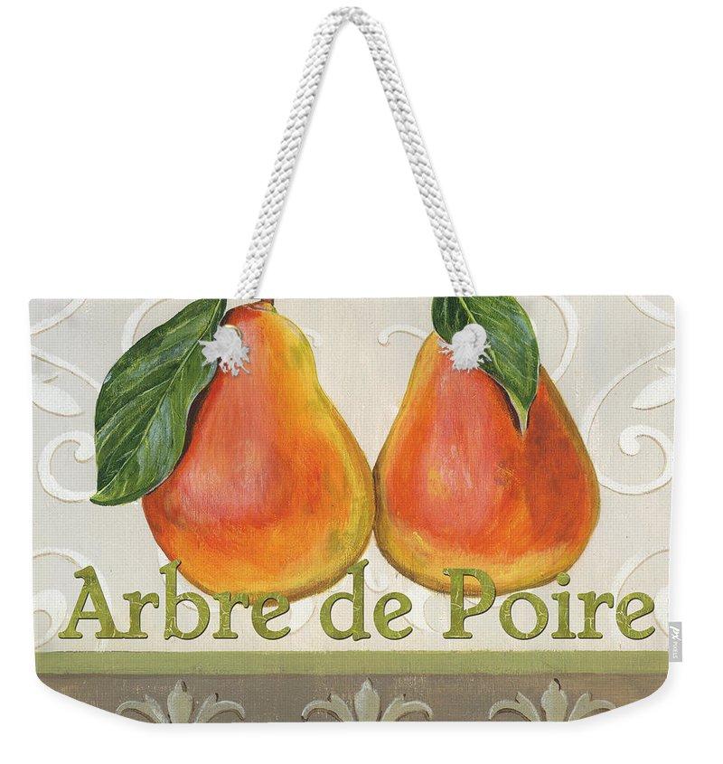 Kitchen Weekender Tote Bag featuring the painting Arbre De Poire by Debbie DeWitt