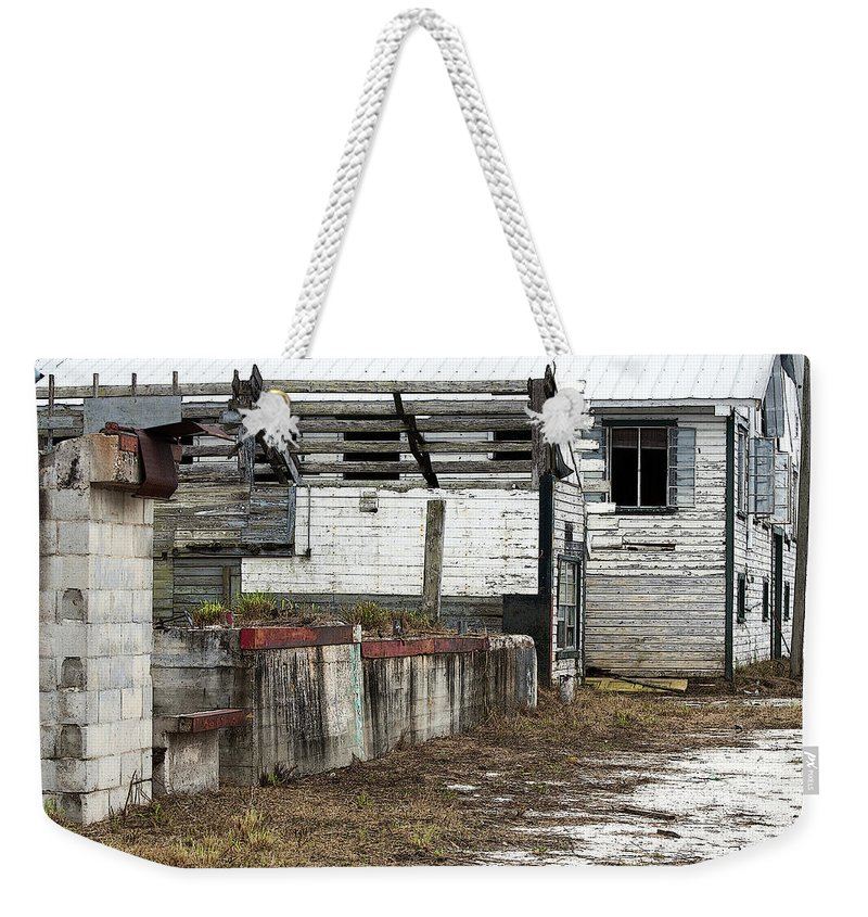 Horizontal Weekender Tote Bag featuring the photograph Arcadia Florida State Livestock Market I Poster Look by Sally Rockefeller