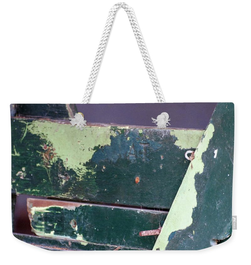Vertical Weekender Tote Bag featuring the photograph Arcadia Florida State Livestock Market Painted Door II Usa by Sally Rockefeller