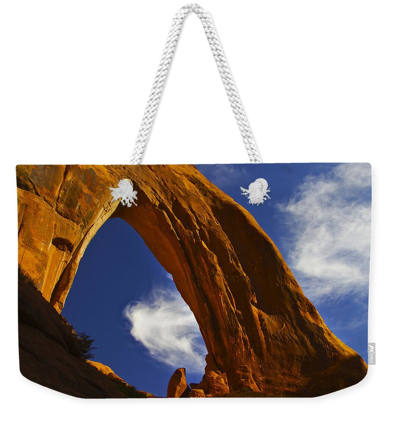 Arid Climate Weekender Tote Bag featuring the photograph Arch 11 by Ingrid Smith-Johnsen