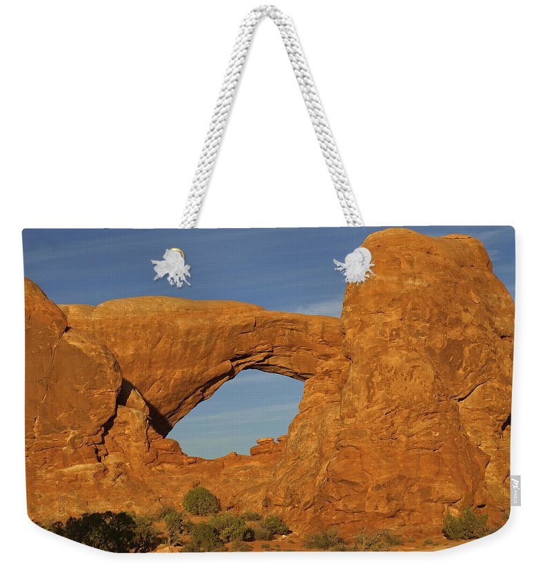 Arid Climate Weekender Tote Bag featuring the photograph Arch 14 by Ingrid Smith-Johnsen
