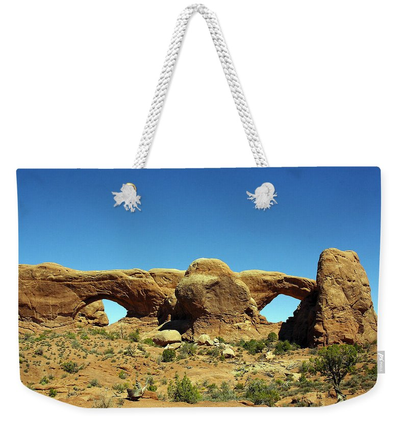 Arid Climate Weekender Tote Bag featuring the photograph Arch 23 by Ingrid Smith-Johnsen