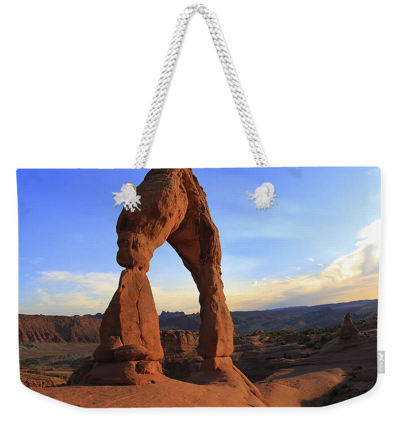 Arid Climate Weekender Tote Bag featuring the photograph Arch 30 by Ingrid Smith-Johnsen