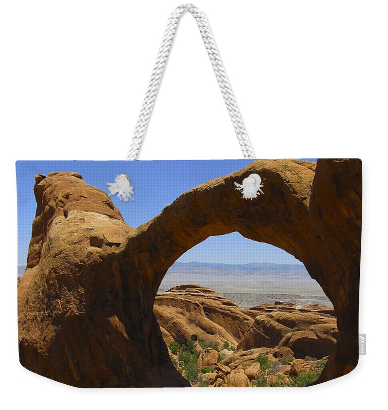 Arid Climate Weekender Tote Bag featuring the photograph Arch 31 by Ingrid Smith-Johnsen