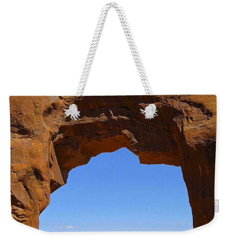 Arid Climate Weekender Tote Bag featuring the photograph Arch 39 by Ingrid Smith-Johnsen