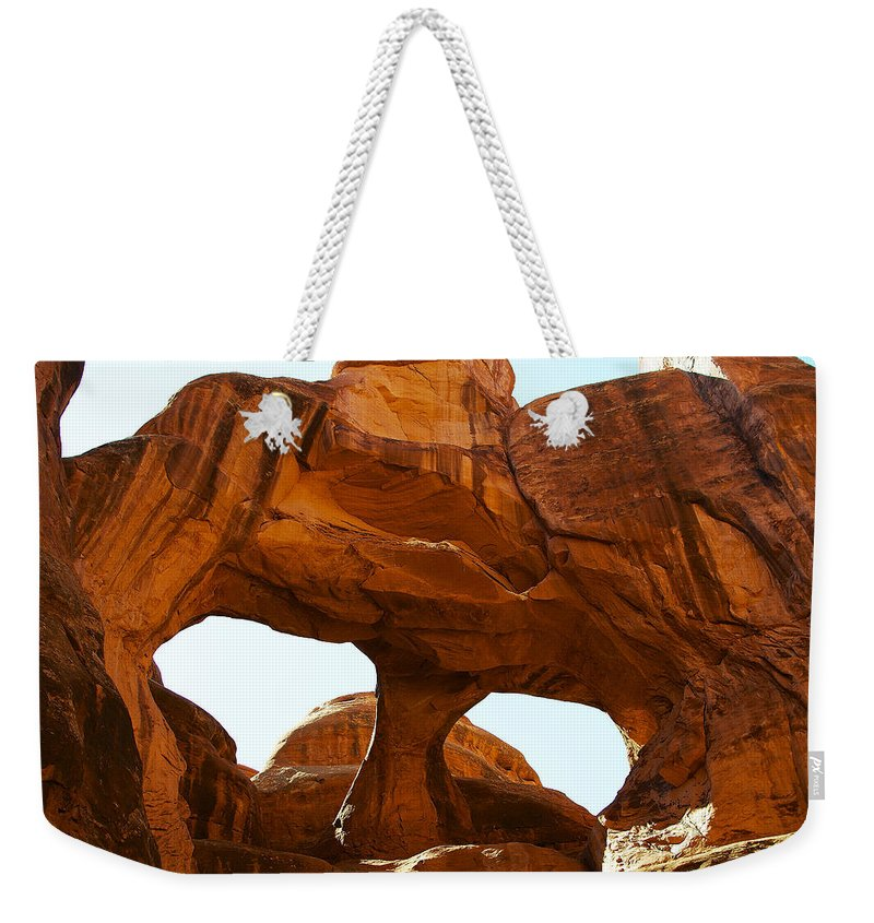 Arid Climate Weekender Tote Bag featuring the photograph Arch 40 by Ingrid Smith-Johnsen