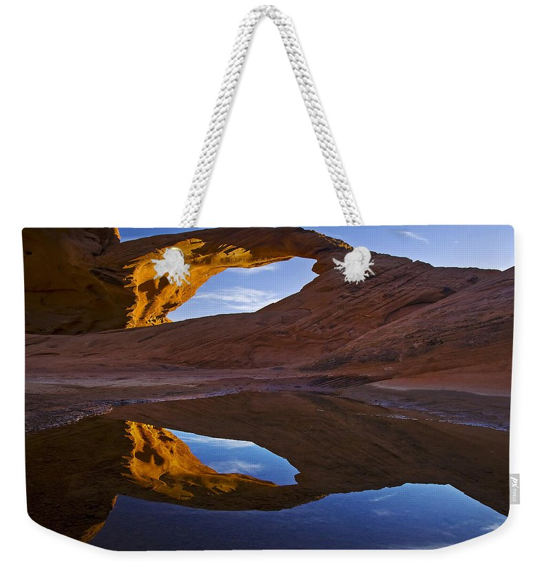 Arid Climate Weekender Tote Bag featuring the photograph Arch 43 by Ingrid Smith-Johnsen