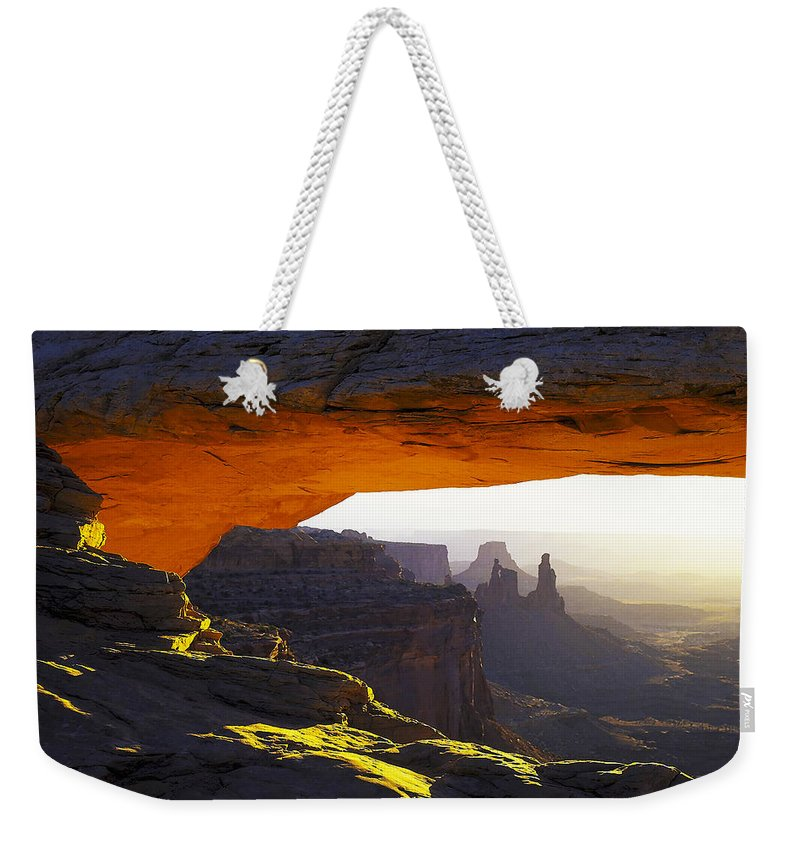 Arid Climate Weekender Tote Bag featuring the photograph Arch 7 by Ingrid Smith-Johnsen