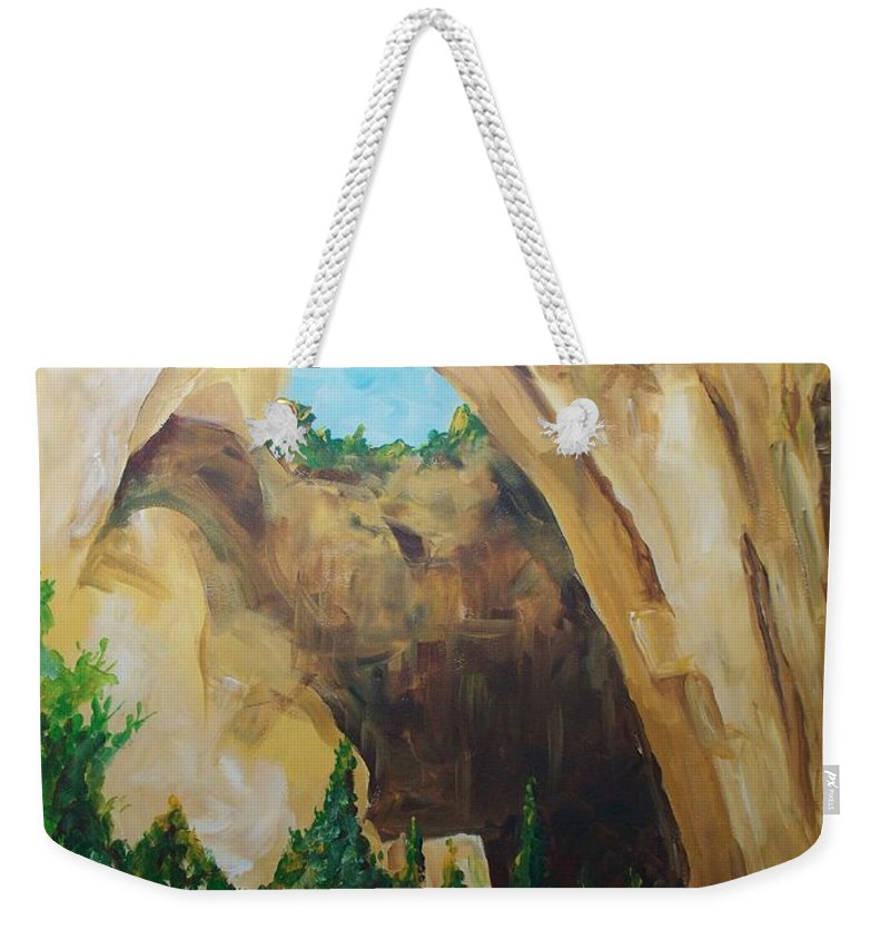 Floral Weekender Tote Bag featuring the painting Arch by Eric Schiabor