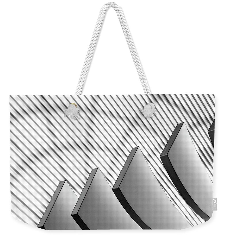 Shadow Weekender Tote Bag featuring the photograph Architectural Abstract 4 - Interior Of by Lubilub