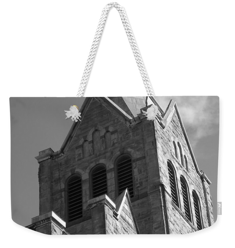 Church Weekender Tote Bag featuring the photograph Architectural Beauty by Sara Raber