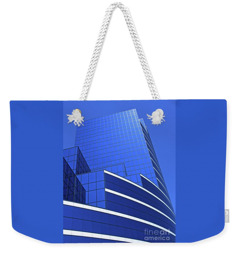 Architecture Weekender Tote Bag featuring the photograph Architectural Blues by Ann Horn
