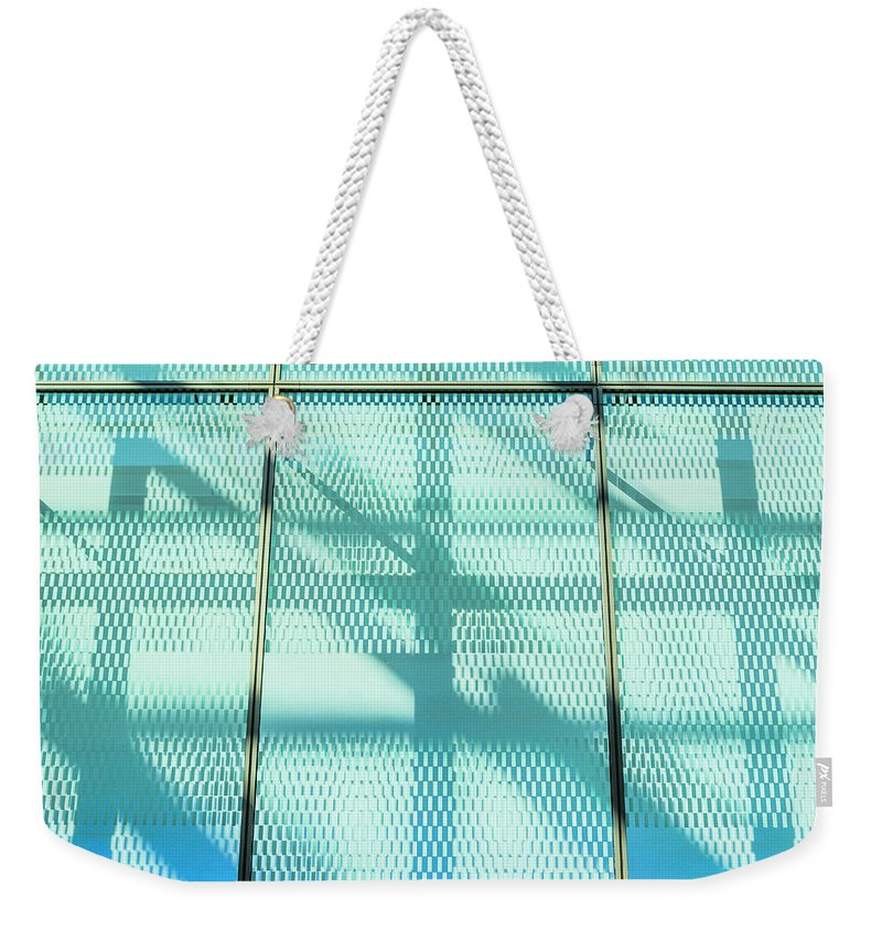 Berlin Weekender Tote Bag featuring the photograph Architectural Detail Of Modern Shopping by Ingo Jezierski
