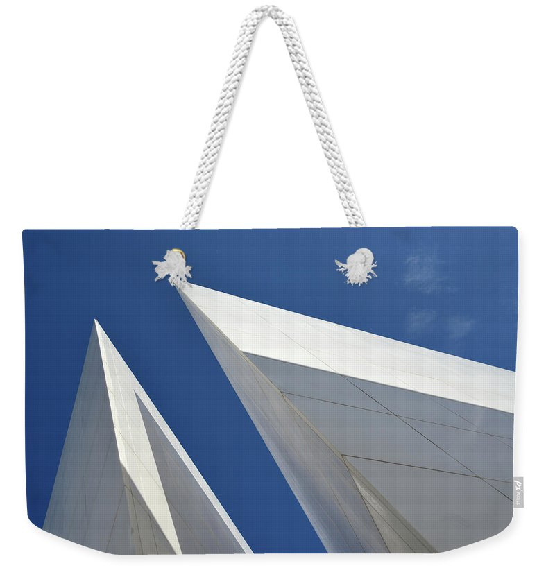 Tranquility Weekender Tote Bag featuring the photograph Architectural Details by Martial Colomb