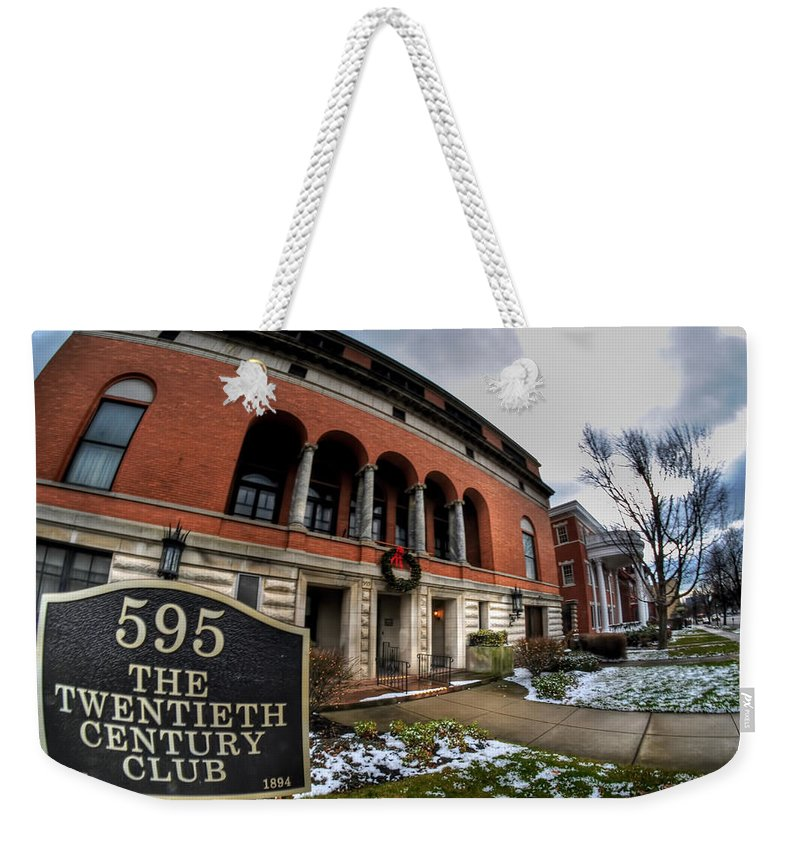 Architecture Weekender Tote Bag featuring the photograph Architecture And Places In The Q.c. Series 01 The Twentieth Century Club by Michael Frank Jr