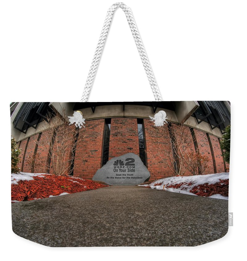 Architecture Weekender Tote Bag featuring the photograph Architecture And Places In The Q.c. Series 2 On Your Side by Michael Frank Jr