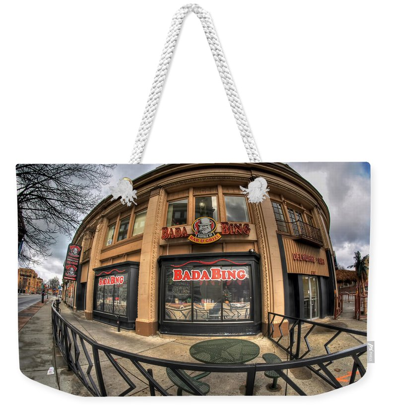 Architecture Weekender Tote Bag featuring the photograph Architecture And Places In The Q.c. Series Badabing by Michael Frank Jr