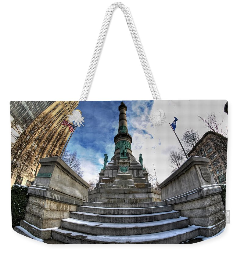 Architecture Weekender Tote Bag featuring the photograph Architecture And Places In The Q.c. Series Soldiers And Sailors Monument In Lafayette Square by Michael Frank Jr