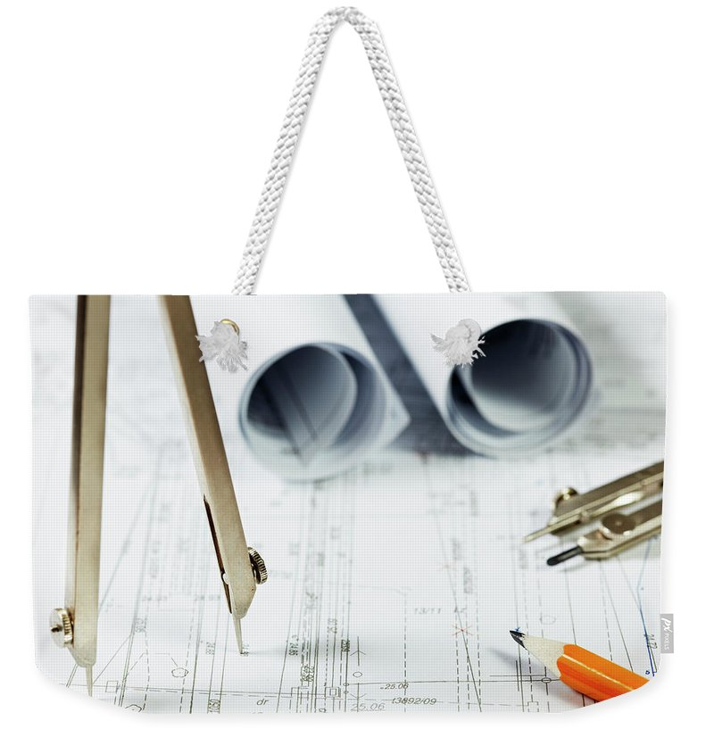 Civil Engineering Weekender Tote Bag featuring the photograph Architecture Planning by Kalasek