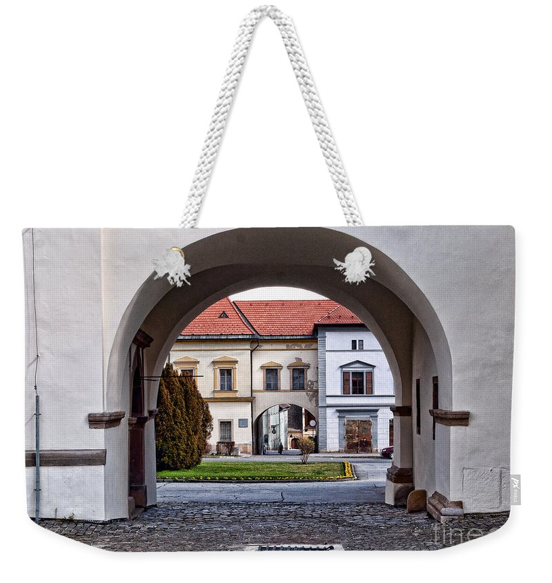 Arch Weekender Tote Bag featuring the photograph Archways by Les Palenik