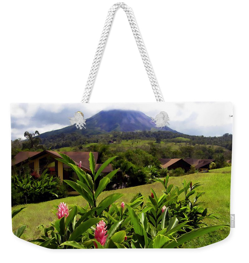 Tropical Weekender Tote Bag featuring the photograph Arenal Costa Rica by Kurt Van Wagner