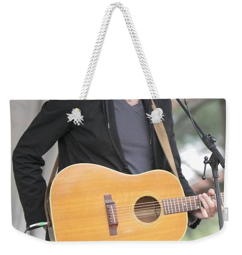 Pop Weekender Tote Bag featuring the photograph Ari Hest by Concert Photos
