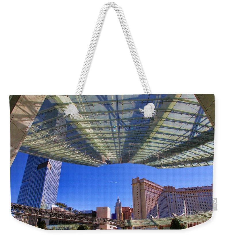 Aria Hotel Weekender Tote Bag featuring the photograph Aria Hotel II By Diana Sainz by Diana Raquel Sainz