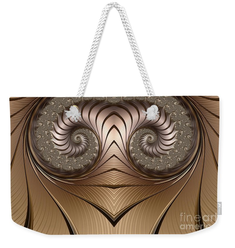 Aries Abstract Weekender Tote Bag featuring the digital art Aries by John Edwards