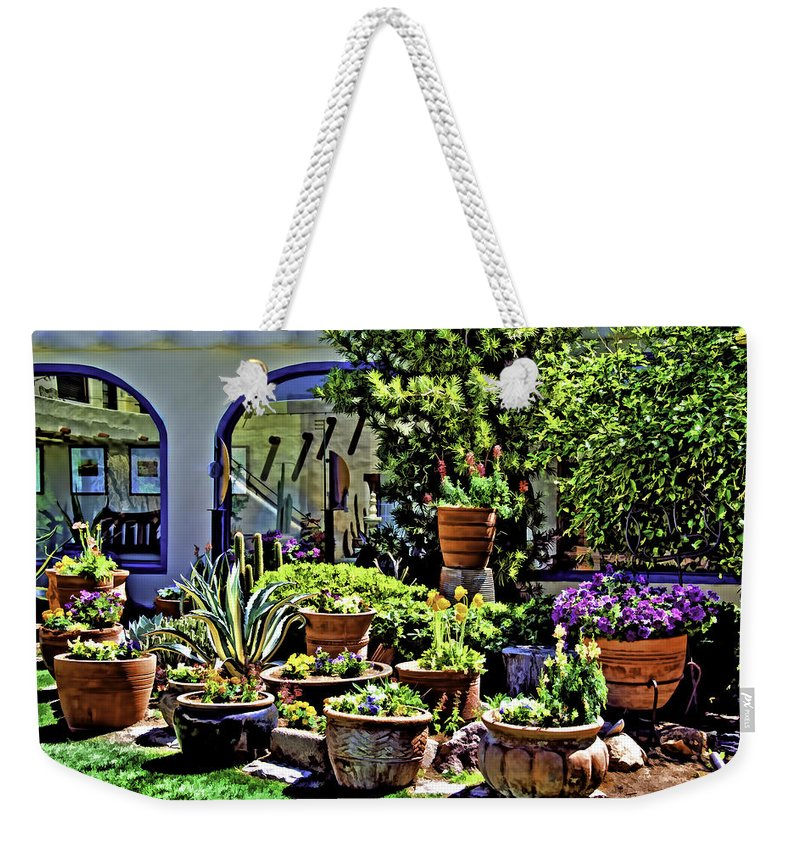 Aloe Weekender Tote Bag featuring the photograph Tucson Garden by Maria Coulson