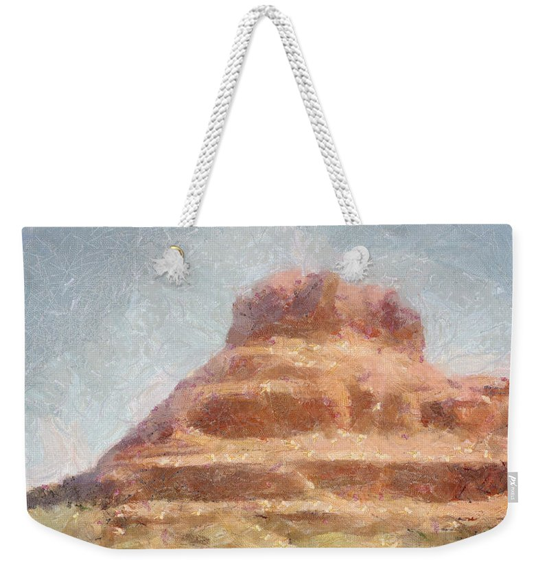 United States Of America Weekender Tote Bag featuring the painting Arizona Mesa by Jeffrey Kolker