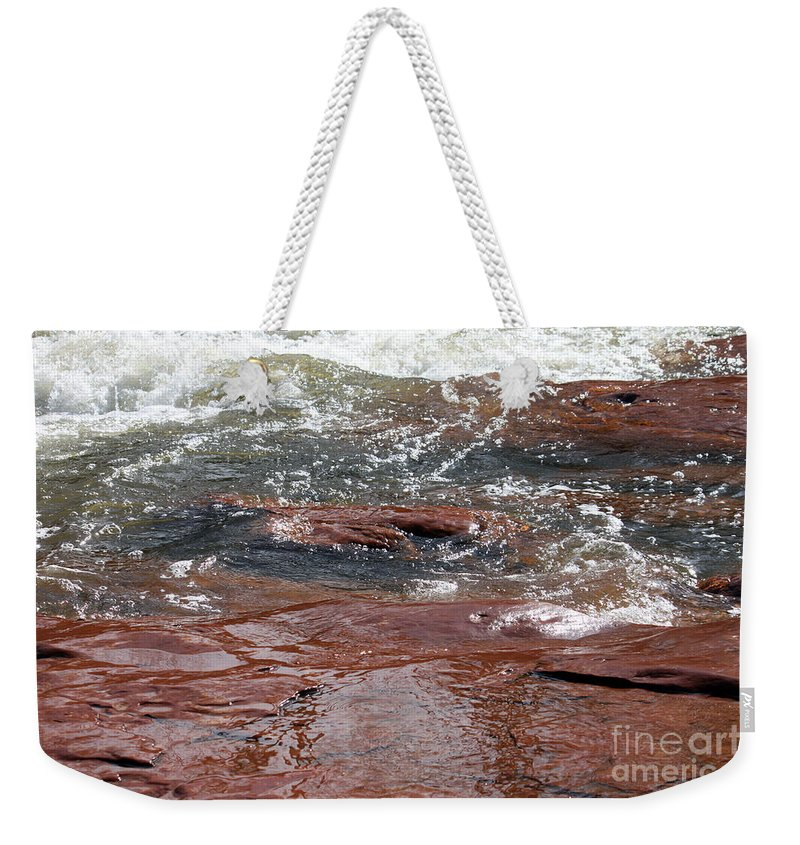Arizona Weekender Tote Bag featuring the photograph Arizona Rim by Debbie Hart