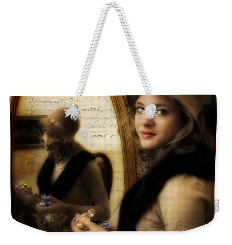 Woman Weekender Tote Bag featuring the photograph Aromatique by Jean Hildebrant
