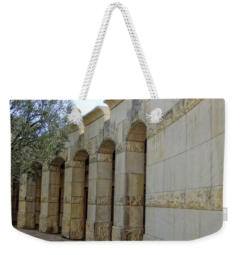 Architecture Weekender Tote Bag featuring the photograph Around The Bend by Donna Blackhall