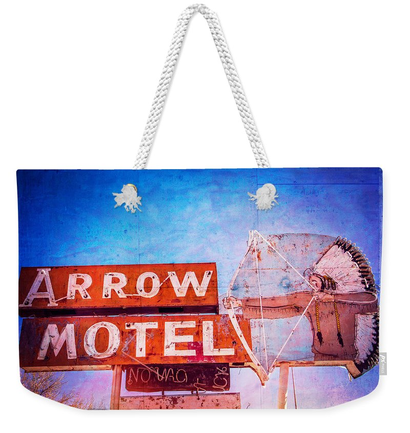 Made In America Weekender Tote Bag featuring the photograph Arrow Motel by Steven Bateson
