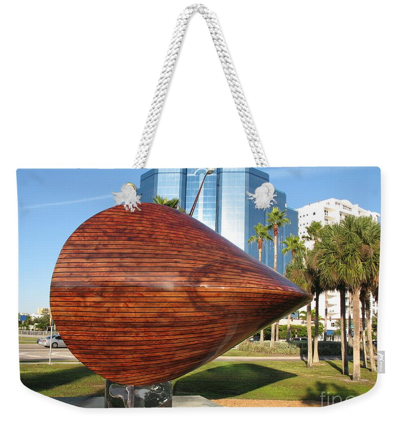 Art Weekender Tote Bag featuring the photograph Art 2009 At Sarasota Waterfront by Christiane Schulze Art And Photography