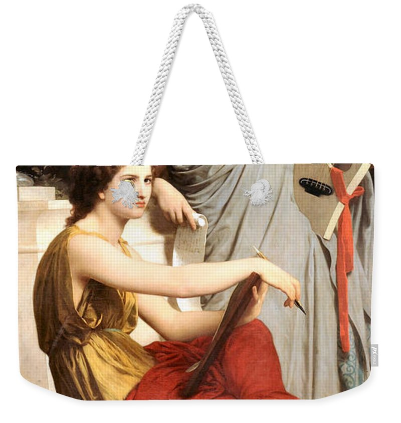 Art And Literature Weekender Tote Bag featuring the digital art Art And Literature by William Bouguereau