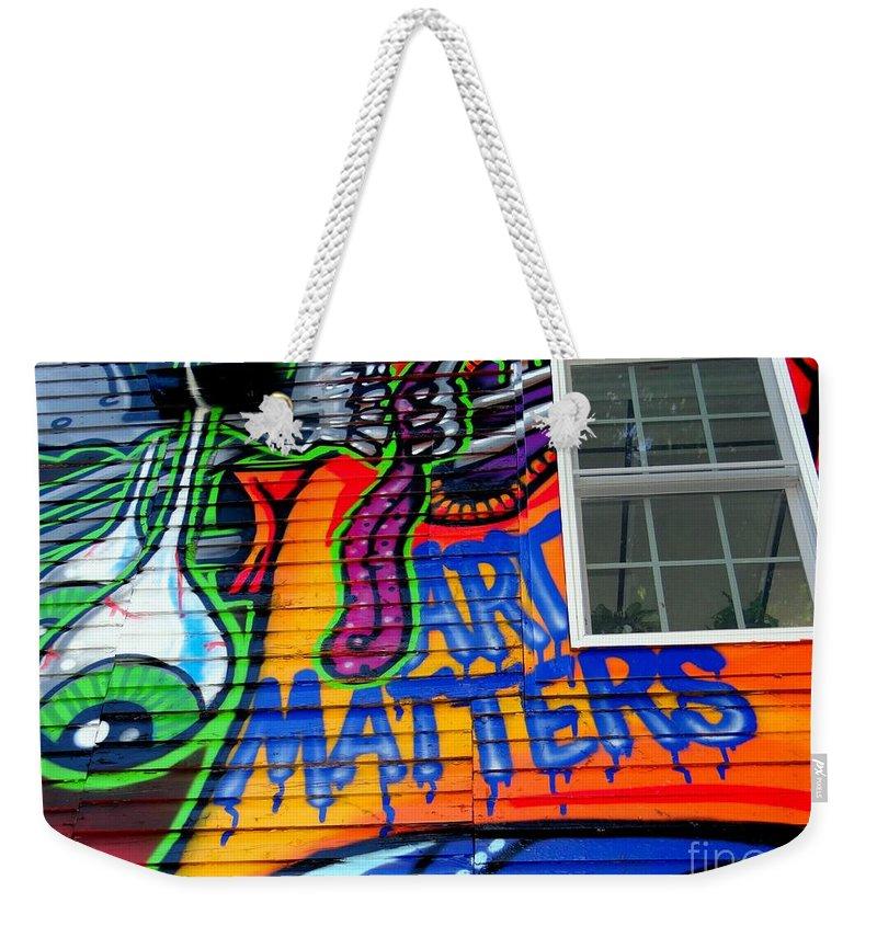 Murals.street Art Weekender Tote Bag featuring the photograph Art Matters by Ed Weidman