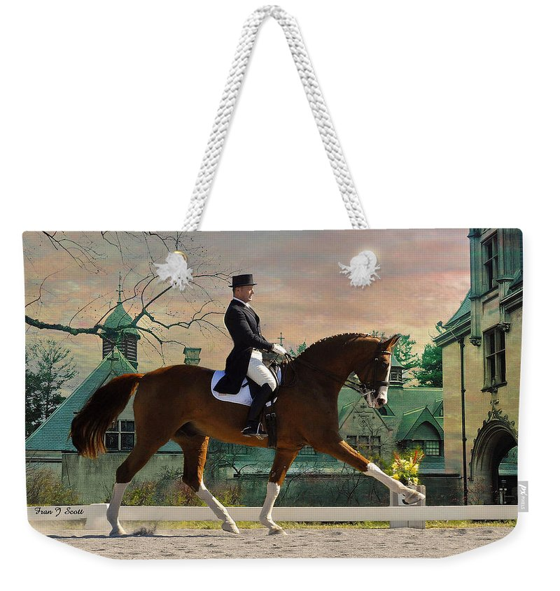 Horses Weekender Tote Bag featuring the photograph Art Of Dressage by Fran J Scott