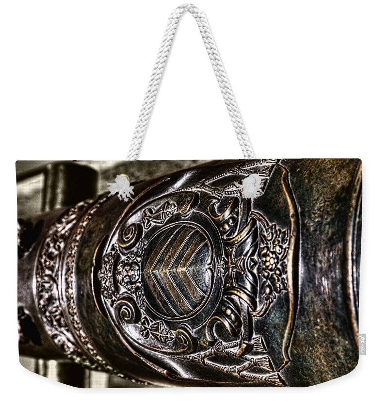 Blue Weekender Tote Bag featuring the photograph Art Of The Cannon by Evie Carrier