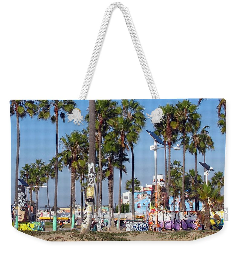 Graffiti Weekender Tote Bag featuring the photograph Art Of Venice Beach by Kelly Holm