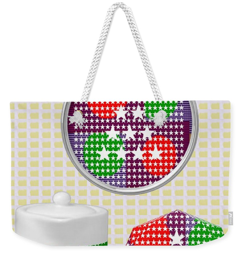 Art On Gifts Weekender Tote Bag featuring the mixed media Art On Gifts Pod Products Ornaments Tea Cup Award Reward Grant Appreciation Acknowledgement Meeting by Navin Joshi