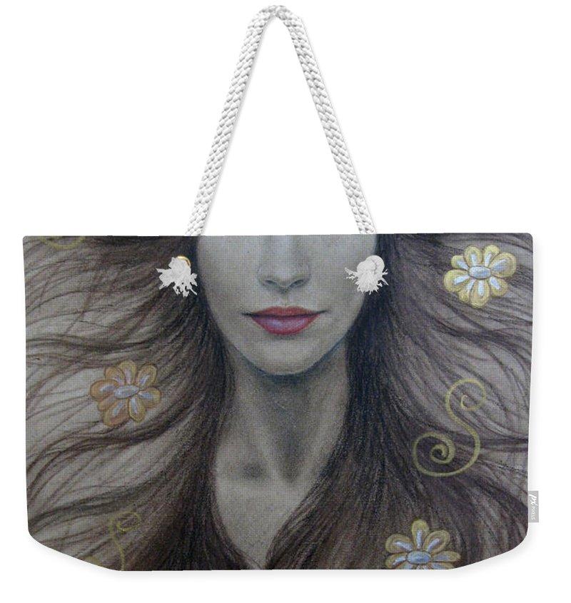 Artemis Weekender Tote Bag featuring the painting Artemis by Lynet McDonald