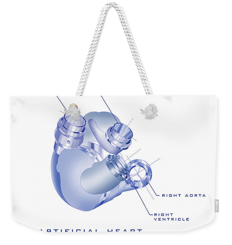 Sunrise Weekender Tote Bag featuring the painting Artificial Heart by James Christopher Hill